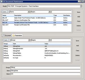In-DEW WMS EDI Framework Screen 2